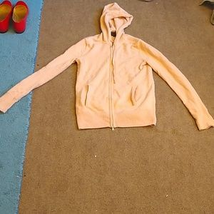 J. Crew Blush Shell Pink Cashmere Zip Up Hoodie